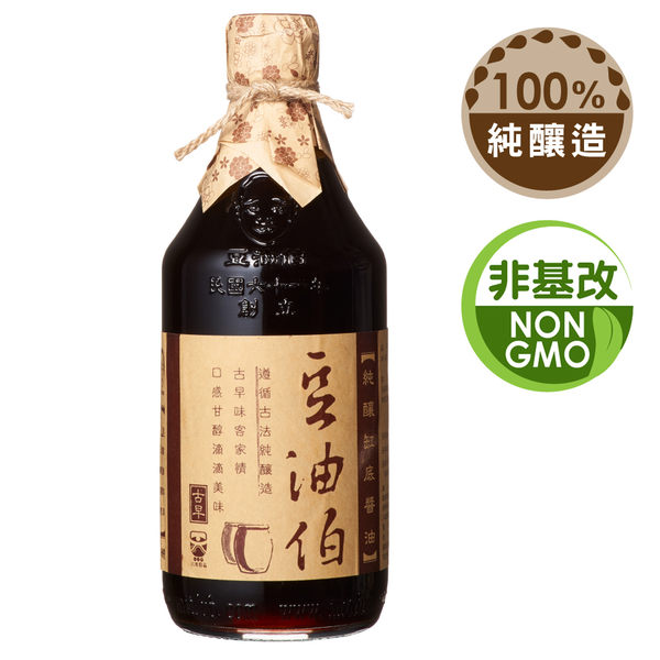 【台灣源味本舖】豆油伯缸底醬油500ml