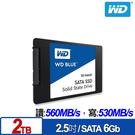 WD BLUE 藍標 SSD 2TB 2...