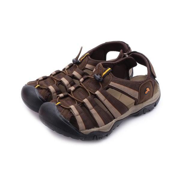 ARRIBA 織帶護趾束繩涼鞋 咖啡 62-477 男鞋 鞋全家福