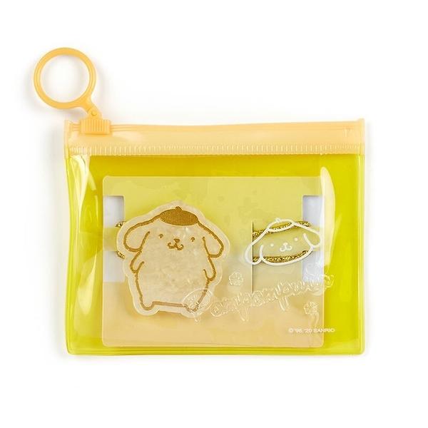 小禮堂 布丁狗 造型壓克力彈力髮圈 附收納包 造型髮束 塑膠髮圈 (金黃) 4550337-56339