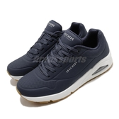 Skechers 休閒鞋 Uno-Stand On Air 藍 白 男鞋 氣墊 增高 運動鞋 【PUMP306】 52458NVY