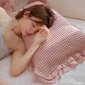 枕巾夏季一對裝純棉單人全棉紗布家用涼爽吸汗防脫落防滑新款 卡布奇諾
