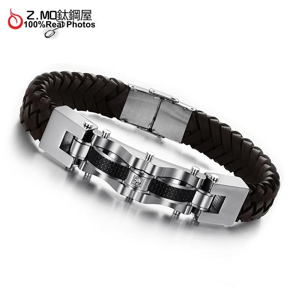 [Z-MO鈦鋼屋]優質PU皮手環/簡約單色設計/經典配色/流行皮手鍊款式推薦單件價【CKLS804】