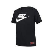 NIKE 男短袖T恤(純棉 慢跑 休閒 大LOGO 上衣≡體院≡ DJ1396-010