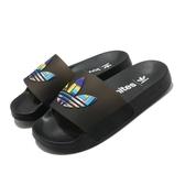 adidas 涼拖鞋 Adilette Lite Pride 黑 彩色 男鞋 女鞋 彩虹系列 涼鞋 【ACS】 FY9017