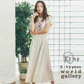 ❖ Hot item ❖ 標誌打印鬆緊腰連身洋裝 - E hyphen world gallery