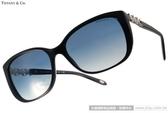 Tiffany&CO.太陽眼鏡 TF4090B 80014L (黑) 奢華花朵鑽飾款 # 金橘眼鏡