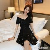 性感洋裝 2020夏季新款輕熟風裙子法式復古收腰顯瘦氣質性感小個子洋裝女 Cocoa