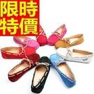 豆豆鞋女鞋子-真皮磨砂皮蝴蝶結平底時尚休閒鞋9色65l6【獨家進口】【米蘭精品】