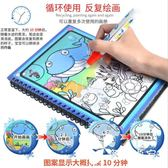 兒童畫畫板 魔法水畫本旅行畫冊寫字板涂鴉繪畫畫板幼兒園水彩筆涂色