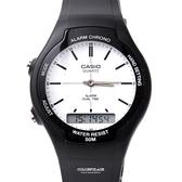 CASIO卡西歐 黑白雙顯手錶 柒彩年代【NEC4】