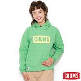 CHUMS 日本 女 INLAY LOGO 連帽刷毛套頭衫 葉綠 CH100523M036