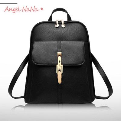 後背包 女雙肩包 韓版休閒 純色 時尚(多有現貨) AngelNaNa (SBA0154)