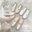 小白鞋女2020春新款軟底透氣平底豆豆鞋舒適防滑百搭不累腳護士鞋 衣櫥秘密