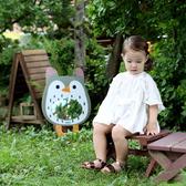 韓國品牌 NINO 兒童彩繪壁貼鏡 奇幻貓頭鷹