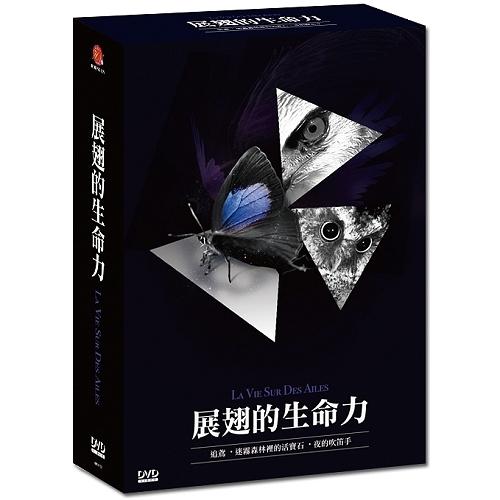 展翅的生命力 DVD - 迷霧森林裡的活寶石/夜的吹笛者/追鳶 (蝴蝶 貓頭鷹黃嘴角鴞 黑翅鳶)