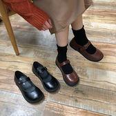 韓版百搭小皮鞋春季新款軟妹系瑪麗珍女單鞋可愛大圓頭學生娃娃鞋 米娜小鋪