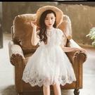 女童白色洋裝夏春秋季蕾絲裙子兒童公主裙新...