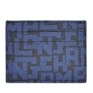 【南紡購物中心】LONGCHAMP LE PLIAGE LGP系列滿版字母名片夾(黑X海軍藍)