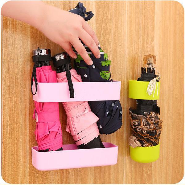 黏貼式收納傘架 家用 長柄 多用途 瀝水 陽傘 雨傘 短柄 DIY 櫥櫃 置物 (小)【K06-1】米菈生活館
