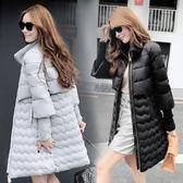 羽絨外套-長版時尚潮流顯瘦純色女夾克2色73it125[時尚巴黎]