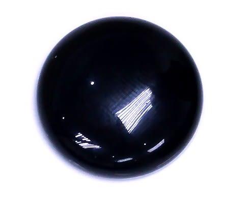 [協貿國際]天然黑玉髓圓型DIY手工飾品配件(5入價)