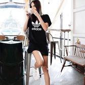 adidas Originals 愛迪達 三葉草 黑色 黑白 logo 洋裝 短袖t桖 連身T桖 AY8123/澤米