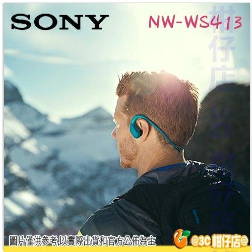 SONY NW-WS413 4G 無線 運動型 MP3 防水 環境音 游泳 極速充電 台灣索尼公司貨 WS413