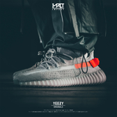 IMPACT Adidas Yeezy Boost 350 V2 Tail Light 歐洲 限定 灰橘 FX9017