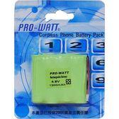 PRO-WATT P110A 4.8V1300mA鎳氫電話電池萬用頭