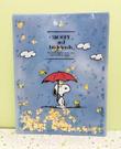 【震撼精品百貨】史奴比Peanuts Snoopy ~SNOOPY 雙開文件夾-藍拿傘#36928