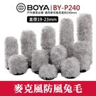 【通用型 麥克風 兔毛】BOYA BY-P240 內置長度240mm 防風 抗噪 罩 毛套 直徑19-23mm 屮V6
