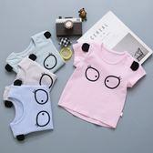 嬰兒純棉條紋可愛男女短袖T恤