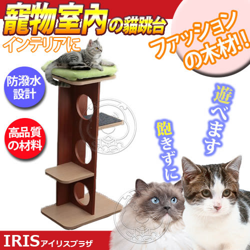 【zoo寵物商城】 日本《IRIS》貓咪室內貓跳台櫻桃紅(PICL-M)