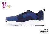 PUMA Wired Knit PS 慢跑鞋 中童 繃帶 透氣 運動鞋 J9511#藍色◆OSOME奧森鞋業