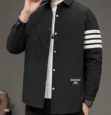 羽絨服男 潮牌外套帥氣輕薄短款冬裝襯衫2021年冬季新款潮流男裝【快速出貨八折特惠】