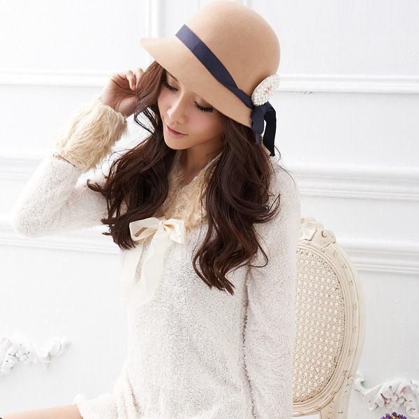 長上衣 Ringbear眼圈熊-時尚貴族風.素面毛料附領巾袖套設計長上衣/洋裝A104(白、咖S-2L)