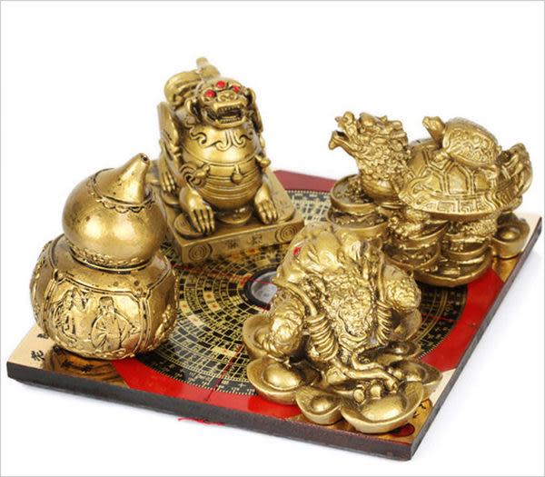 招財貔貅擺件金蟾龍龜葫蘆羅盤風水家居裝飾品擺設