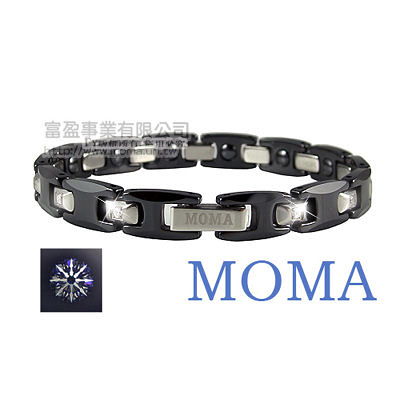【MOMA】陶瓷鍺磁手鍊八心八箭典藏窄版-M62LHD