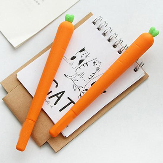 紅蘿蔔0.5mm中性筆 學校 文具 塗鴉 草稿 簽字筆  簽名 禮物【P217】米菈生活館