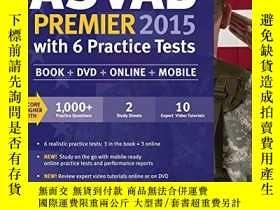 二手書博民逛書店Kaplan罕見ASVAB Premier 2015 with 6 Practice Tests: Book +