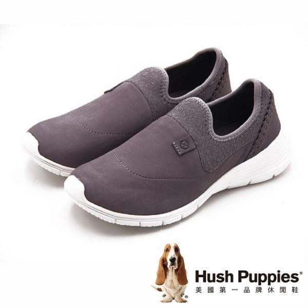 【南紡購物中心】Hush Puppies Eireen Cypress 超輕量厚底線條設計風休閒 女鞋-灰(另有黑)
