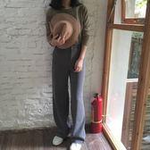 闊腿褲女季高腰拖西裝褲寬鬆大碼休閒直筒褲