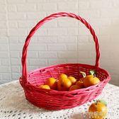 收納筐藤編送禮收納籃雞蛋柳編布藝手提籃零食野餐籃水果籃竹籃子ATF 安妮塔小舖