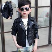 男童外套 男童皮衣外套新款韓版秋童裝兒童皮衣加絨外套寶寶皮夾克潮 俏腳丫