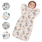 拉鍊式蝴蝶型懶人包巾 懶人包巾 嬰兒包巾 防驚跳包巾 投降式包巾-JoyBaby