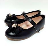 氣質 緞帶蝴蝶結 公主鞋《7+1童鞋》C627黑色