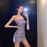 夜店洋裝 2021別致蹦迪亮晶晶亮片連身裙夏天穿的裙子一米五矮個子夜店閃閃   美物 99免運
