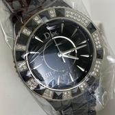 BRAND楓月Christian Dior 迪奧 CD1235E0 VIII 黑色 錶盤 鑲鑽 鑽石 自動錶 手錶 女錶