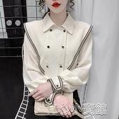 襯衫 小眾設計感洋氣高端襯衫女生春裝2021年新款日系白色別致雪紡上衣 16育心
